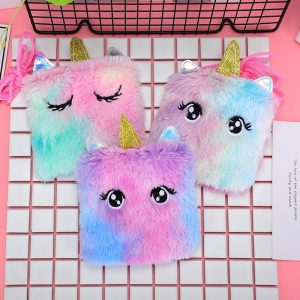 Shinning Fluffy Unicorn Mini Purse