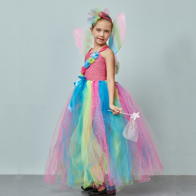 Fairy Dress Girls Party Dress Princess Dress Fairy wings