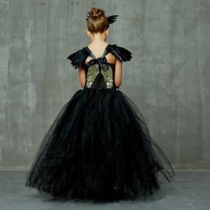 Angel of Darkness Black Fancy Girls Tutu Dress