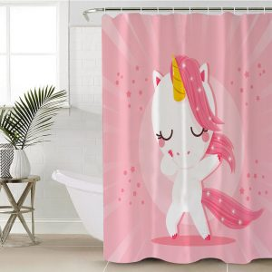 Baby Unicorn Pattern Shower Curtain (Copy)