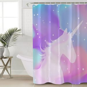 Blue Moon Unicorn Shower Curtain (Copy)