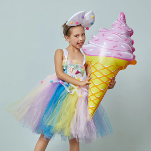 Candy Girls Kids Ice Cream Tutu Dress with Bows
