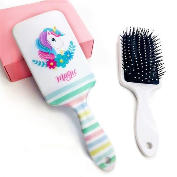 Cartoon Unicorn Transparent Hair Brush