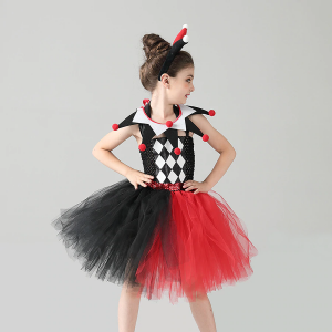 Child's Harley Quinn Dress For Girls