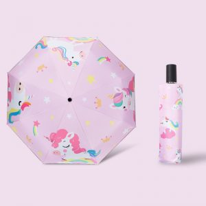 Cute Cartoon Unicorn Folding Umbrella