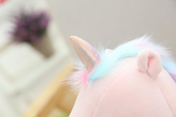 Cute Unicorn Holding Heart Plush Toy