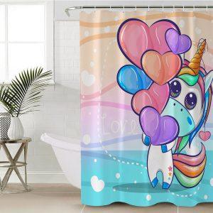 Cute Unicorn Shower Curtain