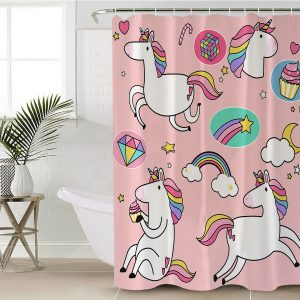 Cute Unicorn Shower Curtain (Copy)