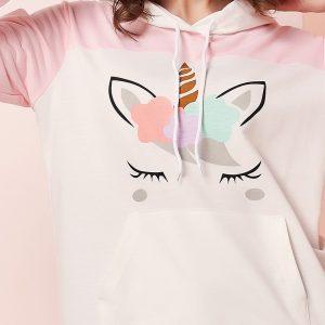 Dreaming Unicorn Pastel Pink Pullover Hoodie