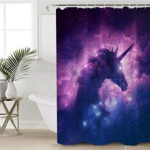 Funny Rainbow Unicorn Shower Curtain (Copy)