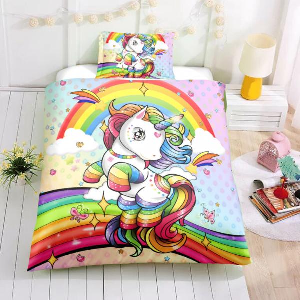 Girl Rainbow Unicorn Lash Bedding Set (Copy)