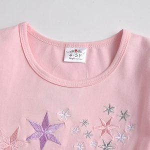 Girls Princess Kids Star Pattern Embroidery Dress