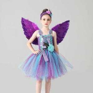Girls Princess Peacock Tutu Dress