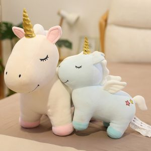 Golden Horn Unicorn Plush Toy