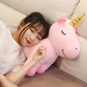 Golden Horn Unicorn Plush Toy