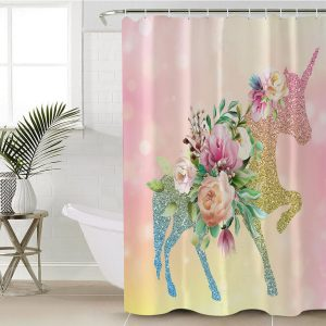 Gradient Rainbow Unicorn Shower Curtain (Copy)