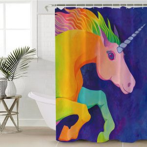 I Love Unicorn Shower Curtain (Copy)