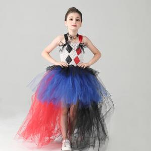 Jester Harley Quinn Girls Tutu Dress