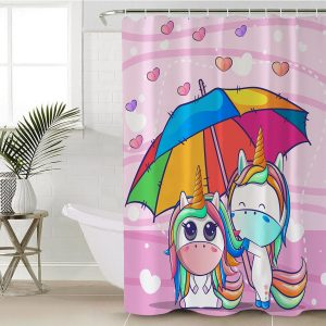 Kid Unicorn Shower Curtain