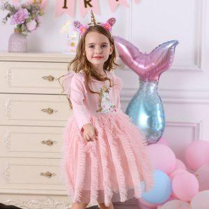 Kids Unicorn Prom Princess Dress