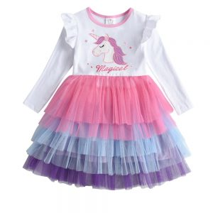 Lace Tulle Cake Princess Dress for Girl