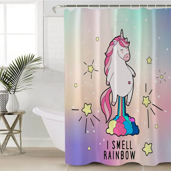 Magic Cute Unicorn Shower Curtain (Copy)