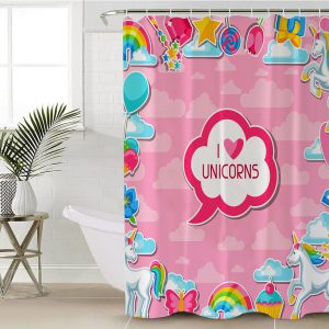 Magical Purple Unicorn Shower Curtain (Copy)
