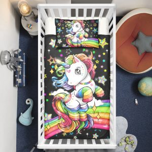 Magical Unicorn Rainbow Crib Bedding Set