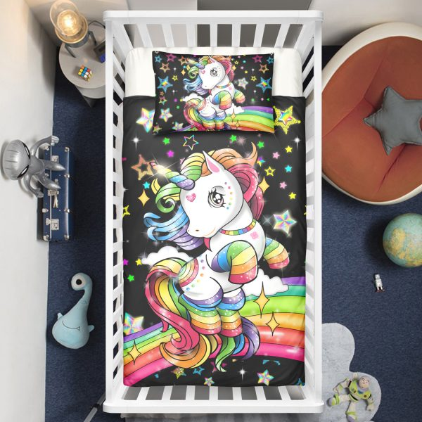 Magical Unicorn Rainbow Crib Bedding Set