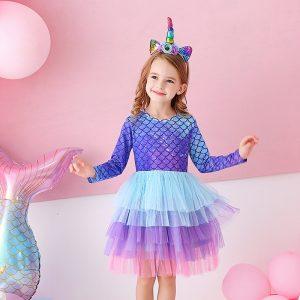 Mermaid Unicorn Dresses For Kids