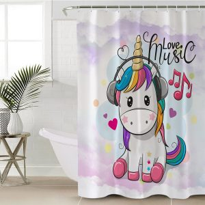 Neon Unicorn Shower Curtain (Copy)