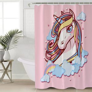 Pastel Galaxy Unicorn Shower Curtain (Copy)