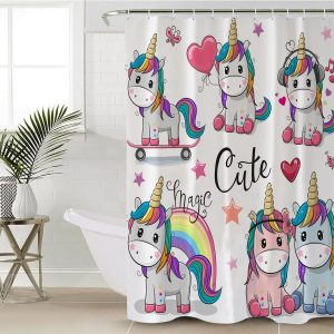 Pink Castle Unicorn Shower Curtain (Copy)