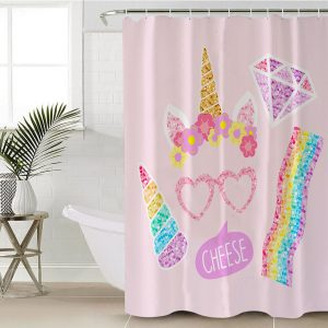 Softball Unicorn Shower Curtain (Copy)