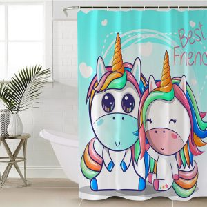 Unicorn Friendship Shower Curtain