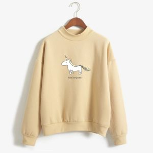 Unicorn Long Sleeve Fleece Sweatshirts