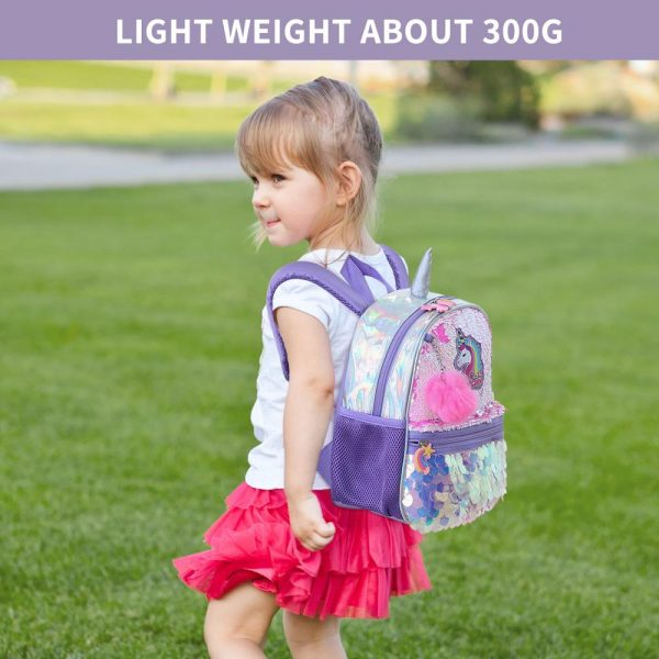 Unicorn Reversible Sequin School Bag For Girls