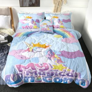 4 Pieces Balloon Heart Unicorn Comforter Set (Copy)