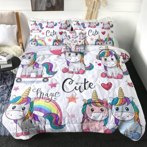 4 Pieces Flamingo Unicorn Comforter Set (Copy)