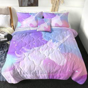 4 Pieces Galaxy Magical Unicorn Comforter Set