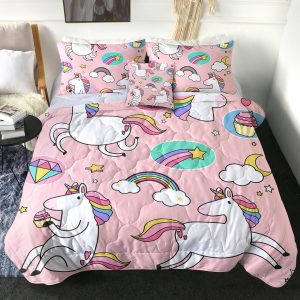 4 Pieces Sporty Themed Unicorn Comforter Set (Copy)