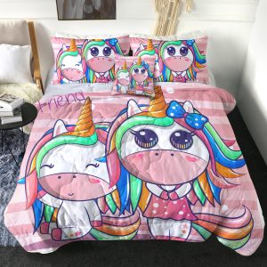 4 Pieces Unicorn Friends Comforter Set