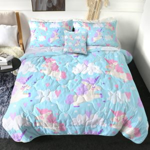 4 Pieces Unicorn Friends Comforter Set (Copy)