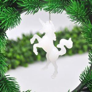 4PCS Artificial Mini Unicorn Doll Christmas Pendant Home Decoration