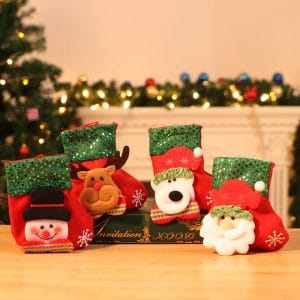 Christmas gifts – Santa Claus small stockings Christmas Tree Ornaments