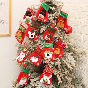 Christmas gifts – Santa Claus small stockings Christmas Tree Ornaments