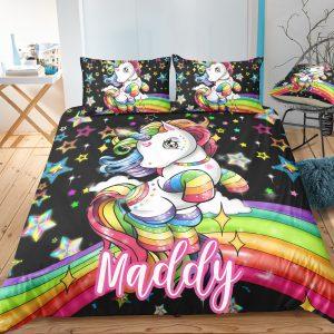 Custom Rainbow Kids Bedding Set – Bed Set, Girl Bedding Set (Copy)