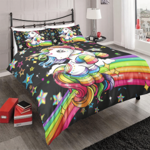 Custom Rainbow Kids Girl Bedding Set