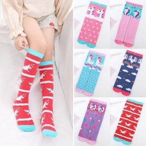 Kawaii Christmas Unicorn Knee High Socks