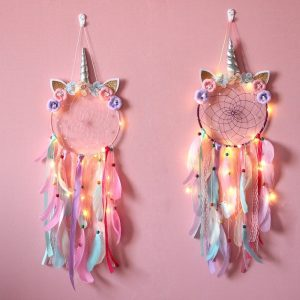LED Glowing Unicorn Dream Catcher Ornaments